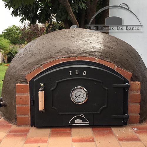 Horno de barro familiar con puerta de fundicion thb tu for Oferta encimera y horno